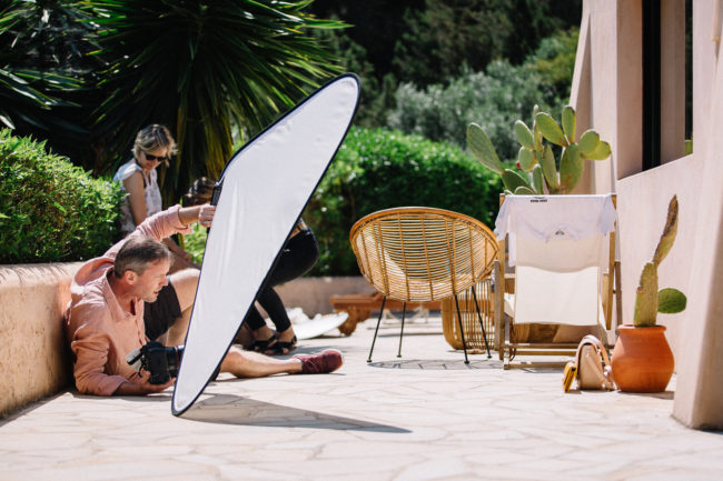 fashion photography behind the scenes Les Georgettes ibiza