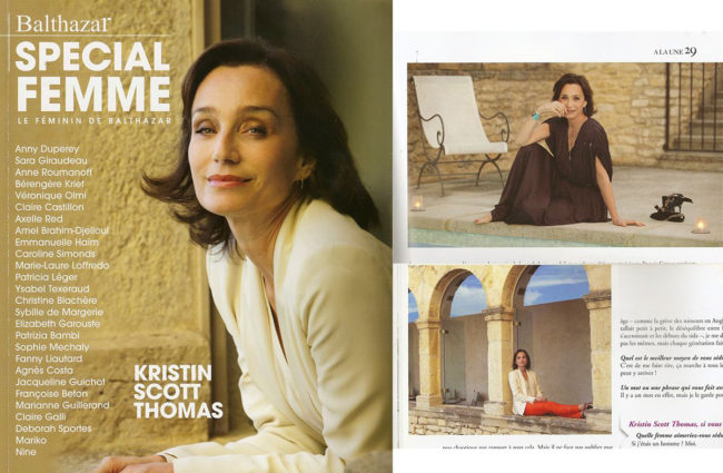 magazine cover balthazar kristin scott thomas