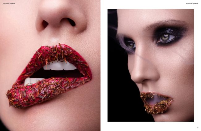 published beauty editorial Incredible Magazine